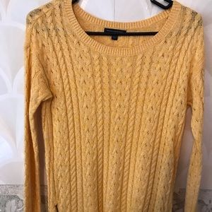 American Eagle Yellow Corded Sweater
